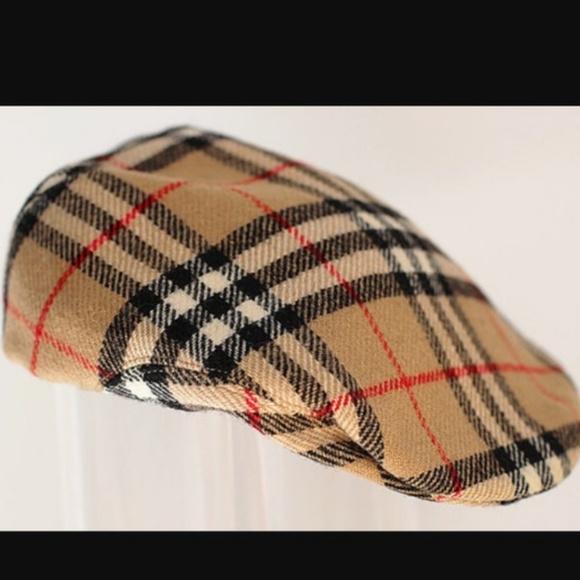 Burberry Accessories -   RARE   Vintage Burberry Newsboy Hat 3cb875e04296